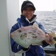 2009.1.7(水) 33.5cmのジャンボカワハギ!