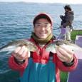 2009.3.7(土) 30cm級を2匹・上村さん!