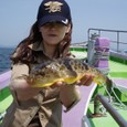 2009.5.10(日) 初挑戦でアカメを釣った加納さん!