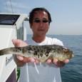 2009.5.20(水) 良型アカメを釣った鹿野さん!