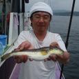 2008.6.25   31cmを釣った山本さん!