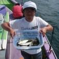 2008.9.10   フグ9匹・アジ9匹・山本さん!