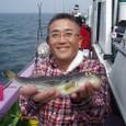 2008.9.14   29cmを釣った上村さん!