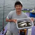 2008.9.15  お子様の面倒を見ながら 31匹釣った北山さん!