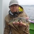 2008.9.22(月)  貴重なアカメを釣った井ノ上さん!