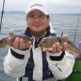 2008.9.28(日) 貴重なアカメを2匹釣った木村さん!