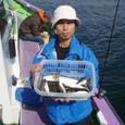 2008.10.3(金) 初挑戦で26匹釣った中島さん!