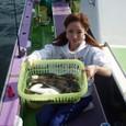 2008.10.7(火) 16匹釣り健闘した石田有可子さん!