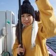 2008.10.12(日) 初挑戦で15匹釣った島田和沙さん!