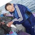2008.10.12(日) 本日最大32cmを釣った北山正大くん!