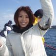 2008.10.12(日) 初挑戦で10匹釣った菟田啓子さん!