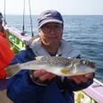 2008.10.13(月) 本日最大30cmを釣った志茂さん!