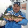 2008.10.22(水) 良型アカメを釣った鈴木さん!