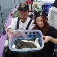 2008.10.25(土) 高橋さん24匹と芳賀さん(右)13匹!