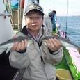 2008.10.29(水) 初挑戦で大型を釣った谷川さん!