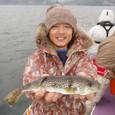 2008.11.9(日) 33cmを釣った熊田さん!