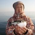 2008.12.30(火) チビトラを釣った熊田さん!