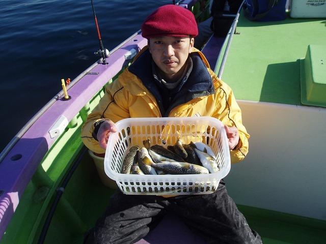 2009.1.14(水) 初挑戦で15匹・百間さん!