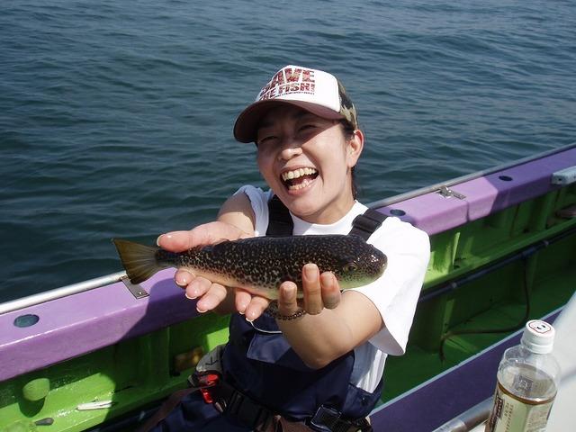 2009.5.20(水) 6匹釣り健闘した一木美名子さん!