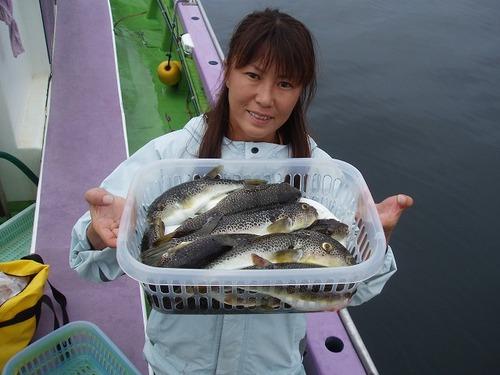 2008.6.27   良型主体に21匹釣った忍姫!