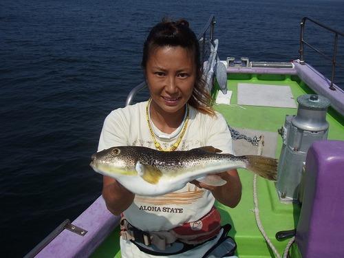 2008.9.13   特大の38cmを釣った忍姫!
