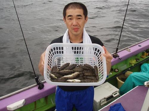 2008.9.21(日)   初挑戦で24匹釣った山田さん!