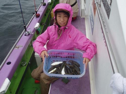 2008.9.22(月)  20匹釣った栗原千恵さん!