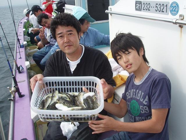 2009.9.22(火) 2人で38匹・熊谷さん親子!