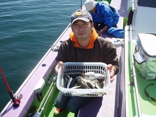 2008.10.3(金) 初挑戦で35匹釣った佐藤さん!