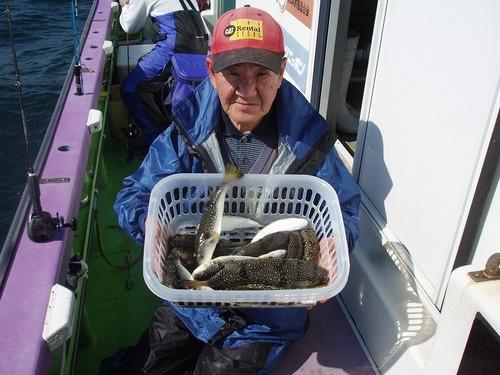 2008.10.16(木) 初挑戦で21匹釣った小田桐さん!