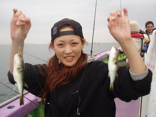 2008.10.25(土) 初挑戦で13匹釣った芳賀さん!
