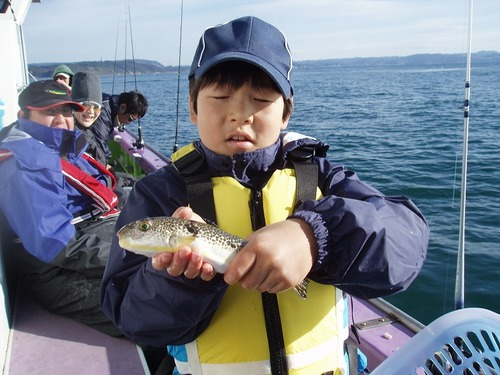 2008.11.23(日) 貴重な1匹を釣った佐々木慶太くん!