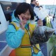 2009.11.15(日) 船釣りデビューで22杯・築山充花ちゃん!