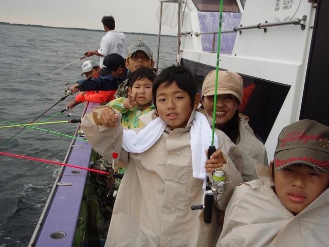 2009.9.12(土) 午後船で楽しんだ内野さんファミリー!