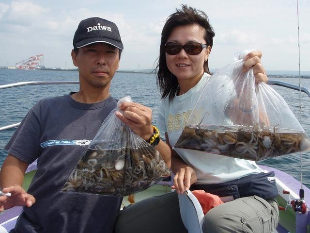 2009.9.22(火) 竿頭・127杯の佐野さんと52杯の神津礼子さん!