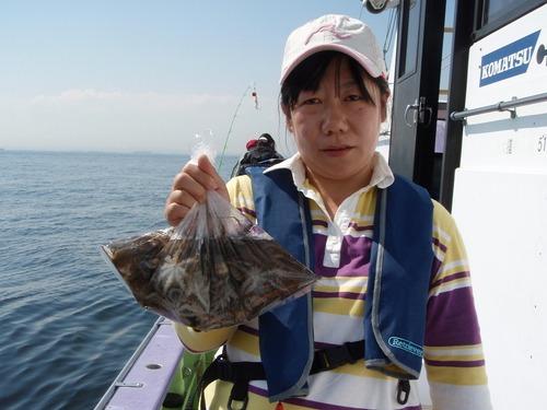 2008.10.4(土) 44杯釣り健闘した長沼一美さん!