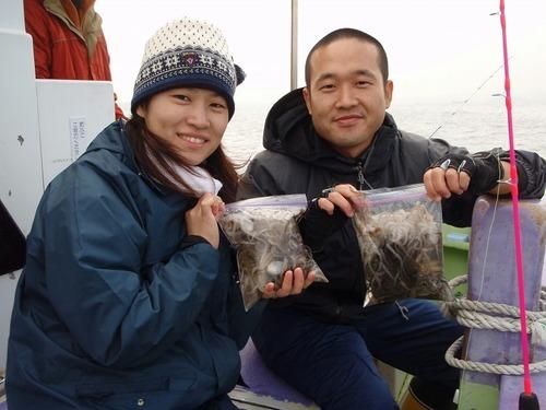 2008.11.2(日) 24杯づつ釣った中島さんご夫妻!