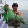 2008.6.25   初挑戦で11杯釣った五十川さん!