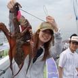 2008.6.28   良型を含む4杯を釣り健闘した西田さん!