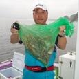 2008.7.7   初挑戦で10杯釣った羽田野さん!