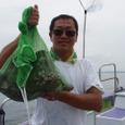 2008.7.9   11杯釣って竿頭の浜野さん!