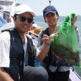 2008.7.12   初挑戦2人で7杯釣った大垣夫妻!