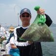 2008.7.13   10杯釣って総重量が10kg有った桧山さん!