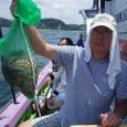 2008.7.16   初挑戦で8杯釣って竿頭の山崎さん!