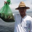 2009.8.12(水) 4杯で5kgオーバー・金子さん!