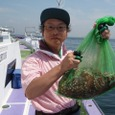 2008.8.20   初挑戦で5杯釣った谷川さん!