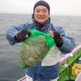 2008.11.24(月) 初挑戦で5杯釣った川浪さん!