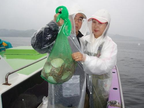 2008.6.29   夫妻で13杯釣った船橋市の時田さん!