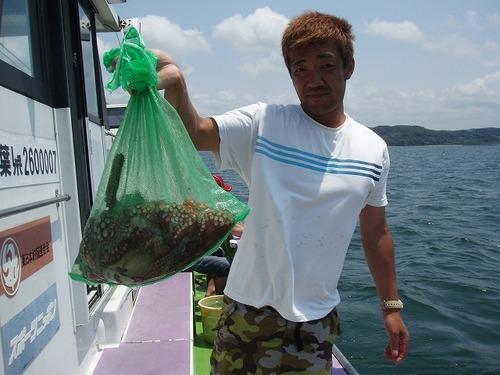 2008.7.16   8杯釣って竿頭の松丸さん!