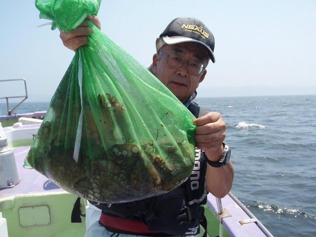2009.8.13(木) 2番手・4杯で5kg超・内藤さん!